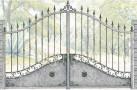 Эскиз кованых ворот №815