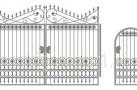 Эскиз кованых ворот №821