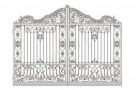 Эскиз кованых ворот №833