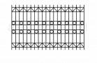 Эскиз сварного забора металлического № 549