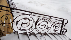Перила кованые лестничные уличные