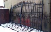 Ворота кованые распашные после производства