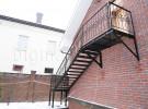 Лестница кованая уличная с поворотом