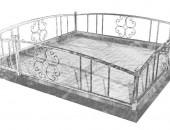 Кованая оградка для кладбища 336