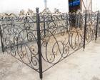 Ограда ритуальная кованая №4