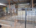 Ритуальная кованая оградка на производстве