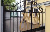 Автоматические раздвижные кованые ворота