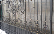 Ворота кованые после изготовления в кузнице