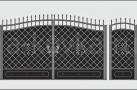 Эскиз кованых ворот №853