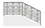 Эскиз кованых перил №725