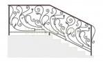 Эскиз кованых перил №733