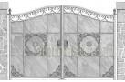 Эскиз кованых ворот №812