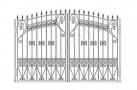 Эскиз кованых ворот №830