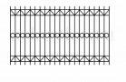 Эскиз сварного забора металлического № 529