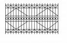 Эскиз сварного забора металлического № 533