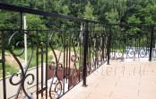 Кованое ограждение балконное на даче