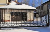 Откатные автоматические кованые ворота