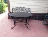 Кованый столик для дачи