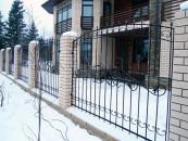 Кованый забор частного дома на заказ