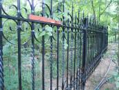 Кованый забор, ограждение территории