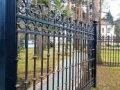 Кованый забор - ограждение частной территории