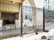 Забор кованый после установки