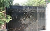 Ковка ворота с калиткой