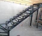 Каркас сварной металлической лестницы