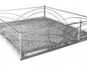 Кованая оградка ритуальная 345