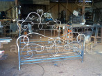 Производство кованой кровати