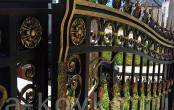 Кованые элементы ворот с патиной золото